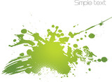 Fototapety Green abstract illustration.