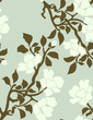 flowering of an apple tree - seamless pattern