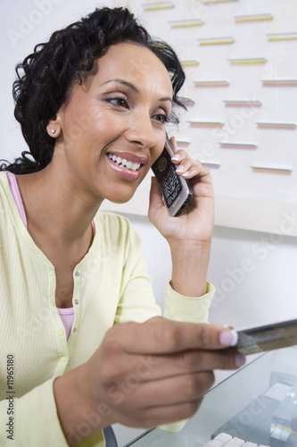 Woman Making an Online Transaction