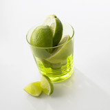 limes in a glass