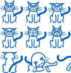 Nine common expressions of a cat
