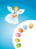 Easter reason with an angel-3 poster