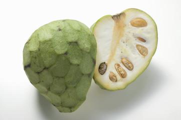 cherimoya, halved