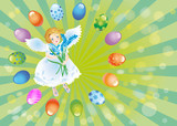 Easter reason with an angel-2 poster