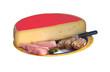 demi meule de raclette étiquette rouge