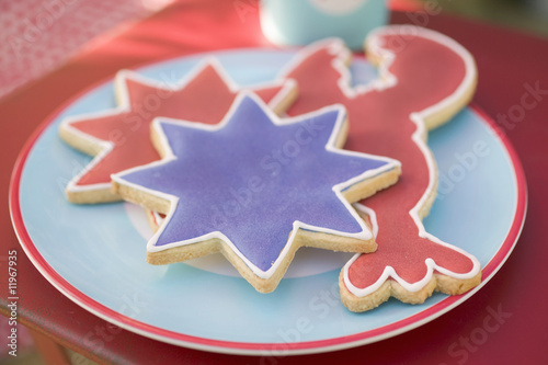 assorted cookies for the 4th of july (usa)