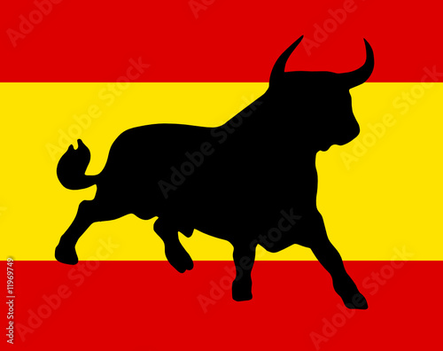 bull on the spanish colors - 11969749