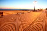 NY, sundown in brighton beach poster
