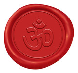 Spiritual Om Sign Wax Seal poster