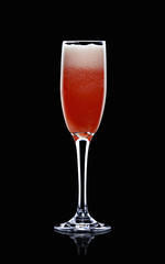 american glory (sparkling wine, grenadine, orange juice