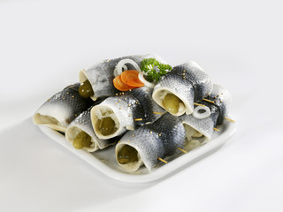 rollmops on a platter