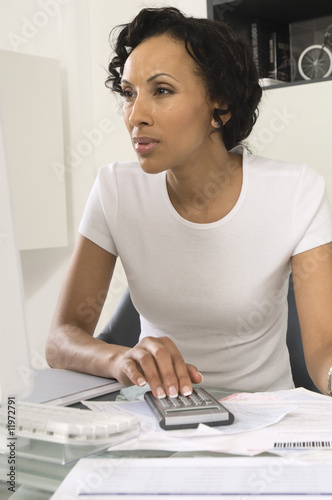Woman Figuring out Personal Finances