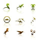 Fototapety animal logos