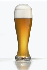 weissbier in glass