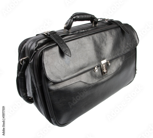 Travel or business bag isolated over white poster