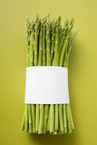 green asparagus bundled