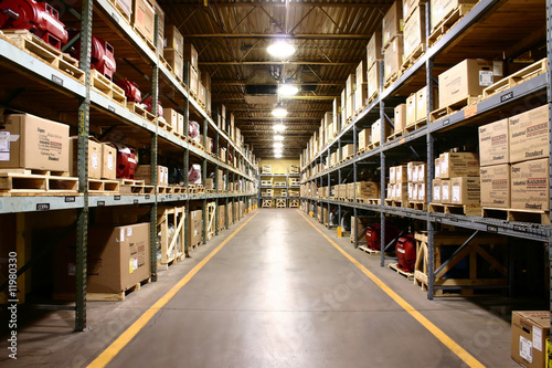 Leinwanddruck Bild Product Warehousing