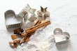 biscuit cutters and baking ingredients