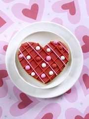 a heart shaped cookie for valentine's day