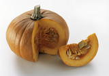 a pumpkin with section removed