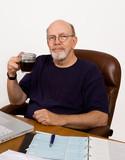 Retired Man Balancing the Checkbook poster