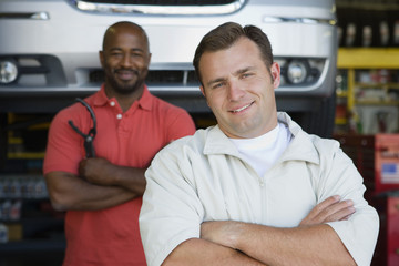 Two Men in an Auto Shop
