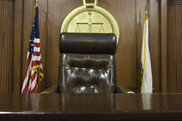 Judges chair in court