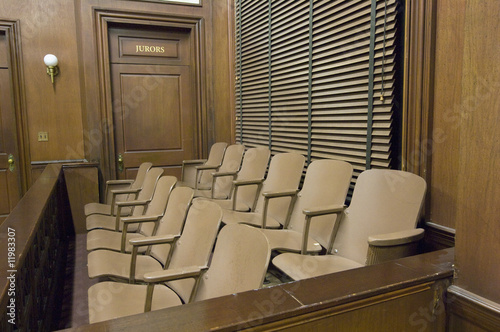 Juries seating in court