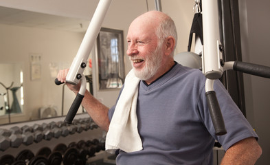 Senior Adult Man in the Gym