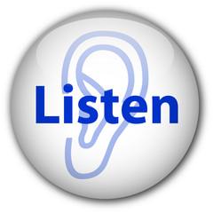 """""""Listen"""" Button (white)"""