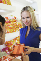 Young Woman Making a Purchase