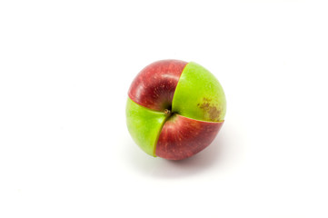 Mixed red and green apples