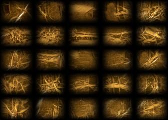 Mesh patterned golden foil