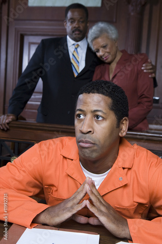 Criminal sitting in court
