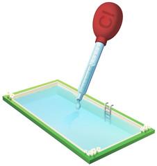 Mettre du chlore dans la piscine (détouré)