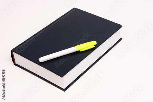 Book with marking pen