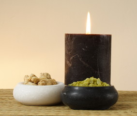 wellness & spa decoration - bath salt