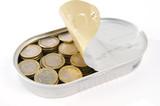 scatoletta con monete poster