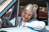 Active Senior Out For  A Drive poster