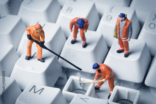 Leinwanddruck Bild Computer repair
