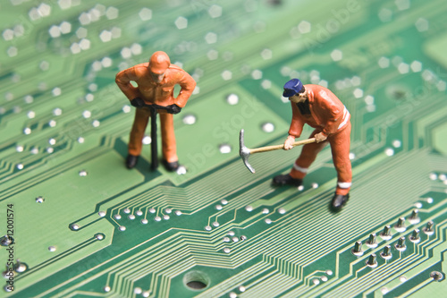 Leinwandbild Motiv Computer repair