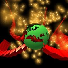 europe energy globe 3d