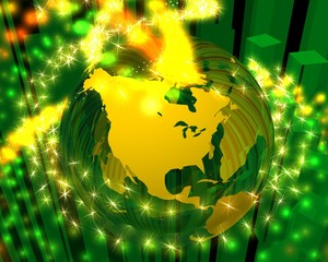yellow north america energy globe