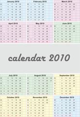 2010 color calendar