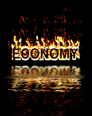 Economy in recession flames