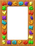 Alfabeto Cornice-ABC Frame-Alphabet Cadre poster