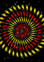 Red and yellow circles vector
