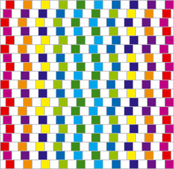 Colorful squares. Vector.