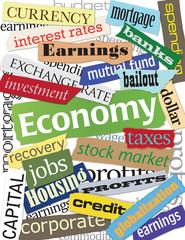 Economy Keyword Montage
