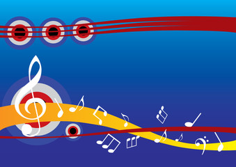 abstract musical background with music note